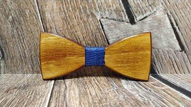 Doplnky - Pánsky drevený motýlik BRUS - 11348415_