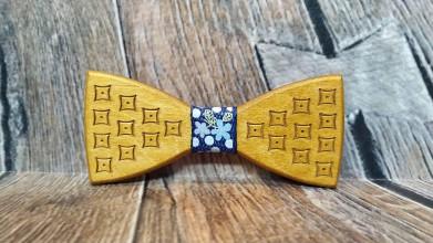 Doplnky - Pánsky drevený motýlik PAN DUB - 11348423_