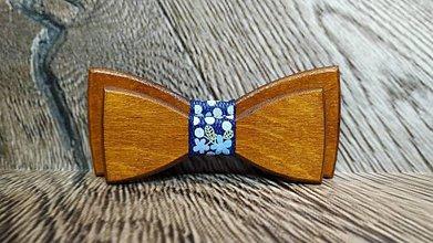 Doplnky - Pánsky drevený motýlik TEAK otec a syn - 11348923_