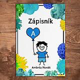 Papiernictvo - Roztomilý zápisník kvetový (chlapec) - 11350301_