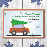 Papiernictvo - Auto a vianočný stromček - 11351024_