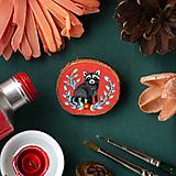 - Ručně malovaná brož s mývalem - 11352953_