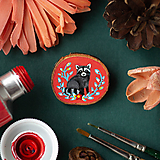 Odznaky/Brošne - Ručně malovaná brož s mývalem - 11352953_