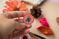 Odznaky/Brošne - Ručně malovaná brož s mývalem - 11352955_