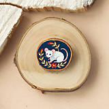 Odznaky/Brošne - Ručně malovaná brož s myškou - 11352980_