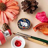 Odznaky/Brošne - Ručně malovaná brož s myškou - 11352982_