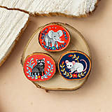 Odznaky/Brošne - Ručně malovaná brož s myškou - 11352983_