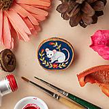 Odznaky/Brošne - Ručně malovaná brož s myškou - 11352985_