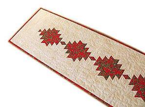 Úžitkový textil - Vianočný obrus Red Lantern - 11354496_