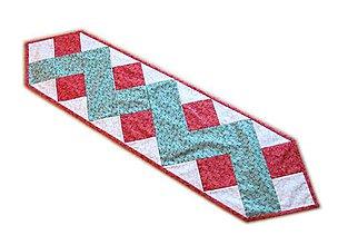 Úžitkový textil - Vianočný obrus Zig Zag - 11354534_