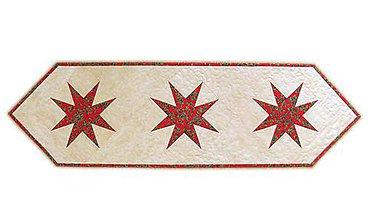 Úžitkový textil - Vianočný obrus Hviezdy - 11354682_
