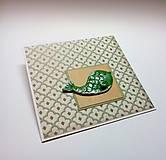 Papiernictvo - Pohľadnica ... vianočná rybka II - 11354544_