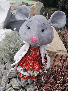 Hračky - Lea myška - 11354221_