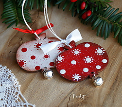Dekorácie - Jabĺčko cinkavé, červené, vianočná ozdoba - 11354173_