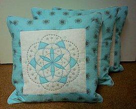 Úžitkový textil - Vankúšová obliečka  snehová vločka - 11355230_