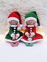 Bábiky - Vianočný škriatok (bábika) - 11351988_