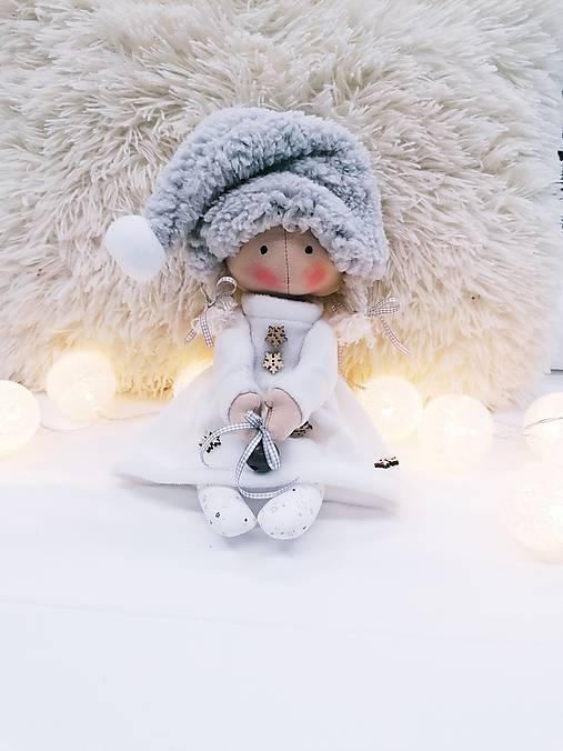 Vianočný škriatok (bábika) v bielom