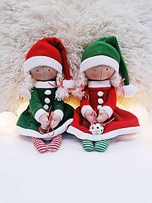 Bábiky - Vianočný škriatok (bábika) (Červená) - 11351988_