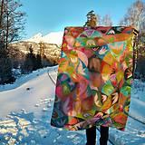 Úžitkový textil - hodvábna deka Acapulco - 11353264_