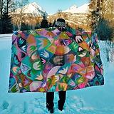 Úžitkový textil - hodvábna deka Acapulco - 11353266_