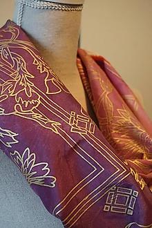 Šatky - hodvábna šatka Purple - 11353125_