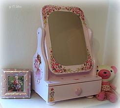 Zrkadlá - Rozprávkové 50 cm veľké zrkadlo so šuflíčkom - Sladká víla - 11352346_