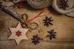 Dekorácie - Linecké koláčiky  (ozdoby - hviezdičky) - 11353832_