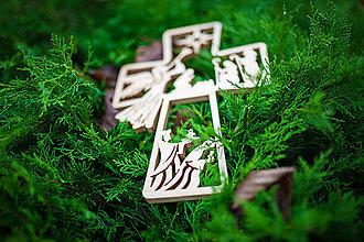 Dekorácie - Drevený kríž - 11352262_