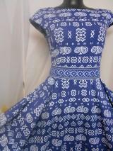 "Šaty - FLORAL FOLK "" Čičmany "", spoločenské dlhé šaty - 11352875_"