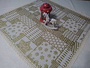 Úžitkový textil - Obrus zlaté vianoce.... - 11353705_