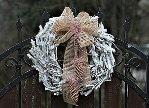 Dekorácie - Veľký vianočný veniec - 11352558_
