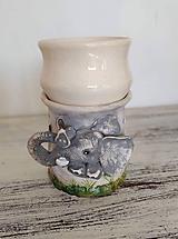 Svietidlá a sviečky - Aromalampa slon - 11352600_