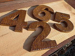 Dekorácie - Drevené čísla a písmená, dub - 11353990_