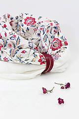 Pôvabný dámsky kvetinový nákrčník z ľanu a bavlny