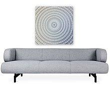 Obrazy - Mandala NOVÉ ZAČIATKY (white-silver) 80 x 80 - 11353854_