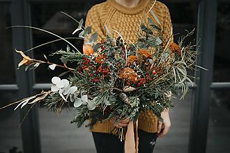 Dekorácie - Vianočná kytica - 11355143_