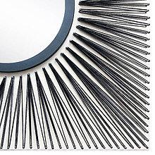 Zrkadlá - Vypletaný obraz so zrkadlom 60X60 (bledá breza) - 11354488_