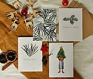 - Vianočné pohľadnice - set 4ks - 11352653_