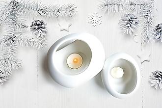 Svietidlá a sviečky - Vonný vosk - Biele vianoce - 11352511_