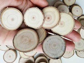 Materiál ručne robený - Drevené plátky okrúhle - priemer 2,5 - 3 cm - 11353690_