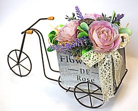 Dekorácie - Bicykel aranžmán - 11353918_