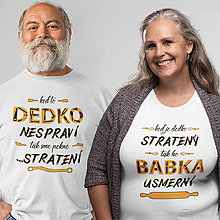 Tričká - Dedko a babka - set tričiek - 11354955_