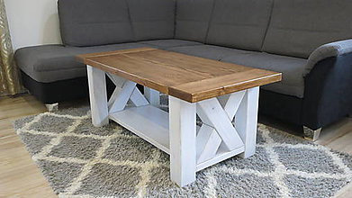 Nábytok - masívny vintage stolík - 11352817_