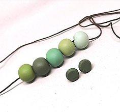 Sady šperkov - Zelené - 11352366_