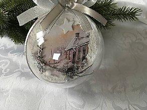 Dekorácie - Vianočná guľa - obojstranná 12 cm - 11353167_