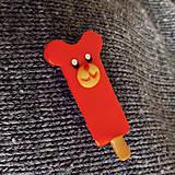 Odznaky/Brošne - Nanuk brošňa - mandarínkový macko - 11351888_