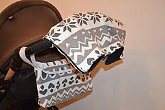 Textil - softshellový rukávnik na kočík VINTER + organizér - 11357192_