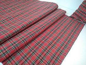 Úžitkový textil - Štóla červené káro - 11355541_
