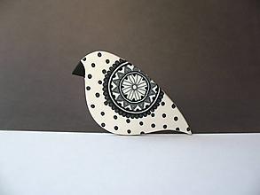 Odznaky/Brošne - ,,Bodkované vtáča,, - 11358163_