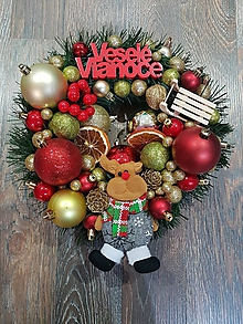 """Dekorácie - Vianočný venček na dvere """"tradičný"""" - 11358496_"""